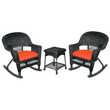wicker rocker chair set in black with red cushion rocking chairs outdoor for d 2 classic coastal wicker rocking chair