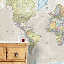 cool and ont world map wall paper home design ideas giant classic mural by maps international