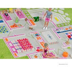 little helper 3d childrens play rug in playhouse design green 80 x 150cm