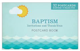 Baptism Announcement Postcards Cardston Book Shop