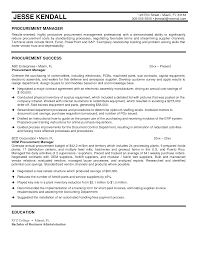 Cover Letter Procurement Specialist Resume Best Procurement