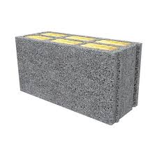 lightweight concrete block for walls with integrated insulation climat