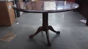 47 round wood conference table used