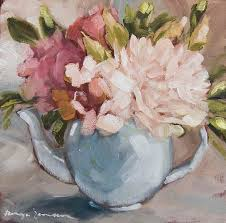 teapot with peonies by tanya jansen teapot with peonies painting teapot with peonies fine art prints and posters for