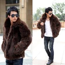 2018 whole short black men s faux fox fur overcoat fur lapel thickening warm leather jackets men s fur coat from peay 54 81 dhgate com