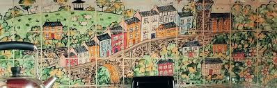 hand painted kitchen aga splashback tile murals of llandeilo wales
