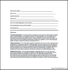 Standard Employee Review Form Template Meaning In Performance ...