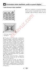 Beko 6340 E Fırın - Kullanma Kılavuzu - Sayfa:9 - ekilavuz.com