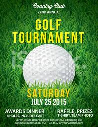 Golf Invitation Template Vector Golf Tournament Poster Invitation Template Large Field Of