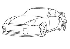 Dessin Auto Imprimer Voiture Porsche Coloriage Dessin L