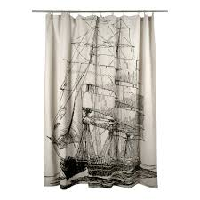 ship shower curtain ship shower curtain in black design by thomas