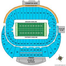 Autzen Stadium Seating Chart Precise Usc Football Seating Chart Ducks Seating Chart View