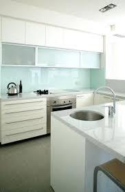 kitchen glass backsplash trendy minimalist solid glass