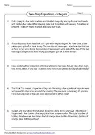 Our worksheets have designed algebra based worksheets to help your students learn converting word problems into algebraic equations in minutes. Equation Word Problems Worksheets
