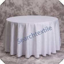 good looking jacquad round table cloth white color polyester tablecloth picnic tablecloth round table cloths from searchtextile 68 55 dhgate com