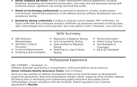 software testing resume samples software testing resume for freshers samples format years