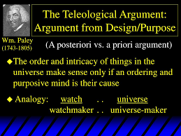 Design Argument Ppt The Teleological Argument Argument From Design