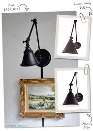 swing arm wall light knock off the painted hive