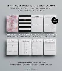 Hourly Planner 2020 2019 2020 Planner Printable Inserts Hourly Planner Filofax A5 Happy Planner Kikki K A5 Agenda 2019 2020 Refills Academic Planner
