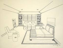 500x381 Bedroom Perspective Drawing Bedroom Drawing Point Perspective