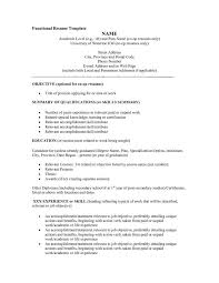 Functional Resume Template Free Resume Invoice