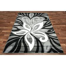 black and white area rugs modern grey area rug flower grey silver black white color black and white area rugs