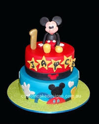 Mickey Mouse 1st Birthday Cake Mickey Mouse 1st Birthday Cake For