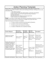 Research Project Plan Template Word Proposal Action Example Planning