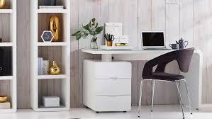 desk thin computer desk desktop computer desk white table with small white file cabinet two