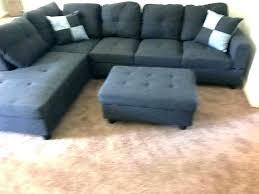sectional sofa with trim black grey ottoman brand new nailhead leather