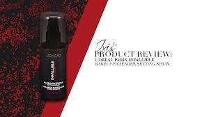 review l oreal paris makeup extender setting spray
