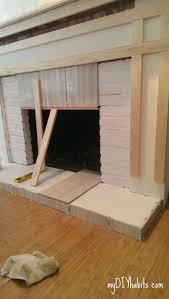 diy brick fireplace refacing