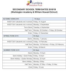 Term Dates - Workington Academy