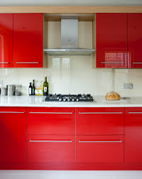 Red Gloss Kitchen Cabinets Red Gloss Kitchen Cabinet Doors