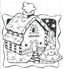 Printable Gingerbread House Coloring Pages#351090