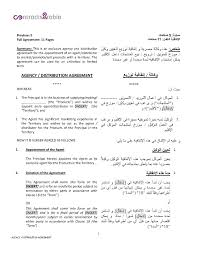 Template Product Distribution Agreement Template