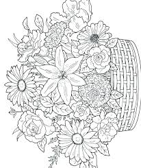 Coloring Pages Of Flowers To Print Printable Adult Color Pages
