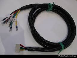 custom wiring harness customcable custom car wiring harness custom automotive wiring harness with board to wire and terminal lug connectors