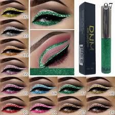 Značka Dnm Třpytivé Oční Linky Lesklé Oční Stíny Profesionální Kosmetika 16 Barva Vodotěsný Pigment Stříbrné Zlato Kovové Kapaliny Glittery Makeup