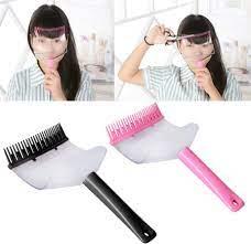 diy hair bangs fringe cut comb clip