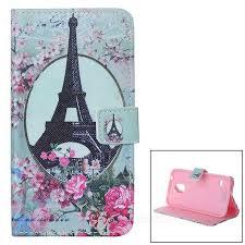 Eiffelova Věž Vzor Ochranné Flip Open Pu Kožené Pouzdro Pro Samsung Galaxy S5 Tmavě Růžová Zelená