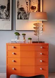 vibrant orange dresser burnt orange furniture