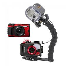 Olympus TG-6 Camera AND Underwater Housing by Olympus with Sea and Sea YS-03 Strobe