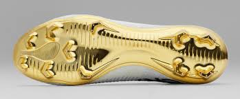 cr7 soccer shoes gold white