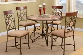 unique metal dining room table and chairs