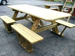 diy picnic table plans build a picnic table picnic table bench combo back to simple and