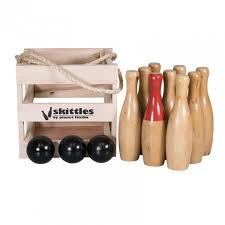 Game Of Skittles Wooden Wooden Skittles Outdoor Game 51