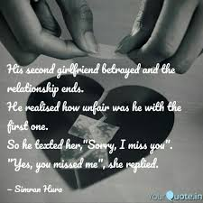 His Second Girlfriend Bet Quotes Writings By Simran Hura