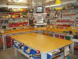 woodworking workshop. a well equipped and organized woodshop can make woodworking enjoyable, productive safe! workshop