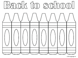crayon welcome back to school coloring s 2 sheets sunday pages creation